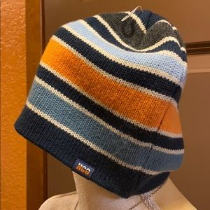 unisex striped beanie  onesize